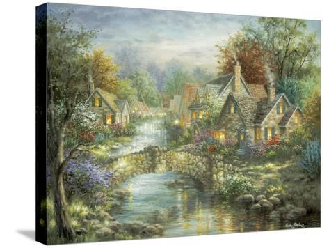 Stonehedge Bridge-Nicky Boehme-Stretched Canvas Print
