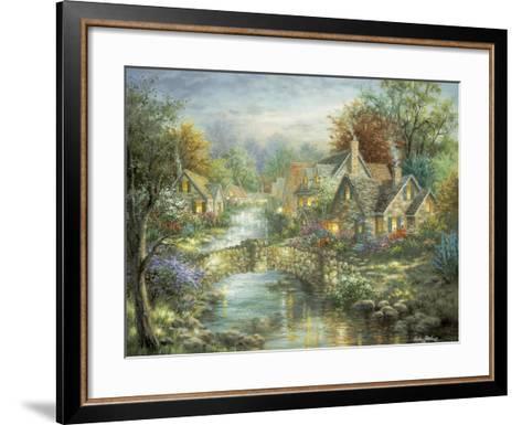 Stonehedge Bridge-Nicky Boehme-Framed Art Print