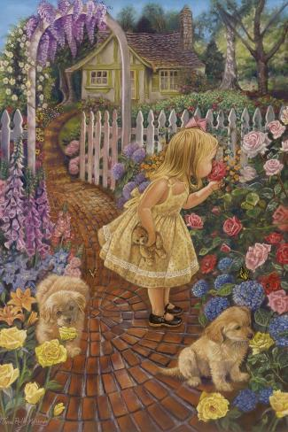 Stop and Smell the Roses-Tricia Reilly-Matthews-Stretched Canvas Print