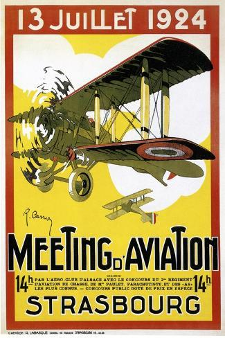 Strasbourg Aviation--Stretched Canvas Print