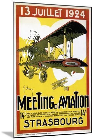 Strasbourg Aviation--Mounted Giclee Print