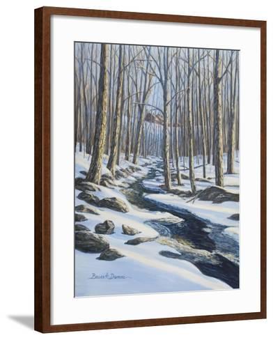 Woodland Farm Stream-Bruce Dumas-Framed Art Print