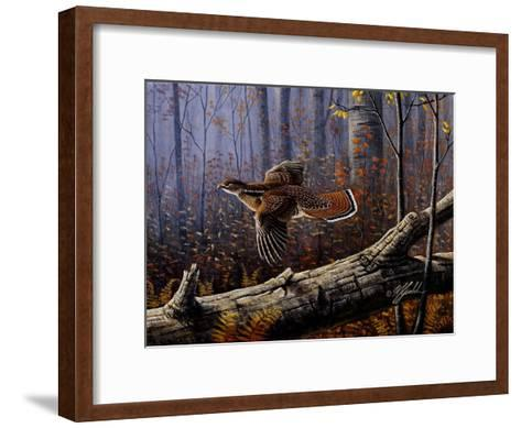 Windfall Glider - Ruffed Grouse-Wilhelm Goebel-Framed Art Print