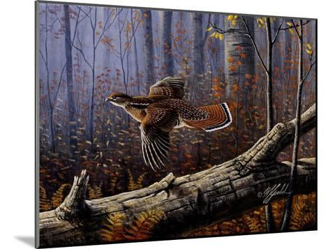 Windfall Glider - Ruffed Grouse-Wilhelm Goebel-Mounted Giclee Print