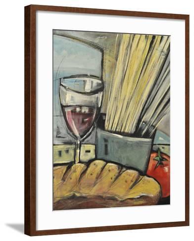 Wine Bread and Pasta-Tim Nyberg-Framed Art Print