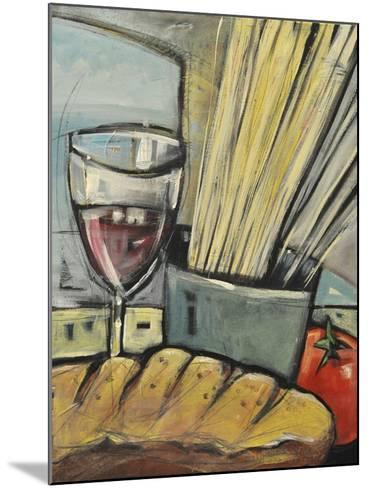 Wine Bread and Pasta-Tim Nyberg-Mounted Giclee Print