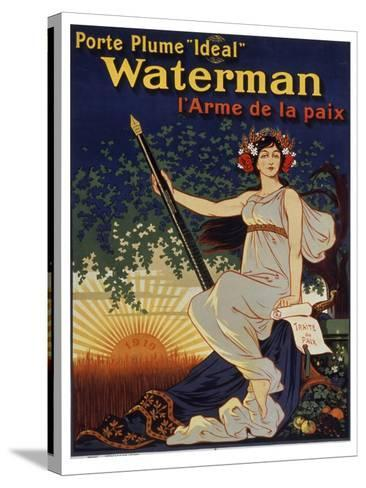 Waterman Pen--Stretched Canvas Print