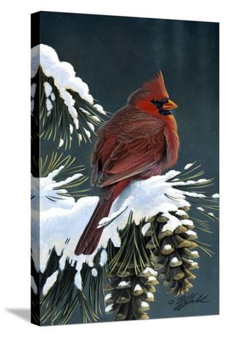 Winter Cardinal-Wilhelm Goebel-Stretched Canvas Print