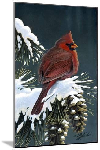 Winter Cardinal-Wilhelm Goebel-Mounted Giclee Print