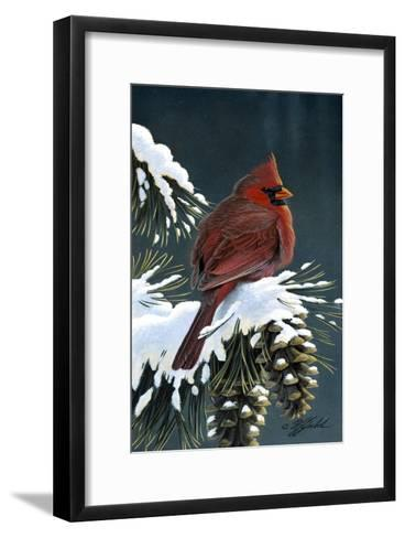 Winter Cardinal-Wilhelm Goebel-Framed Art Print