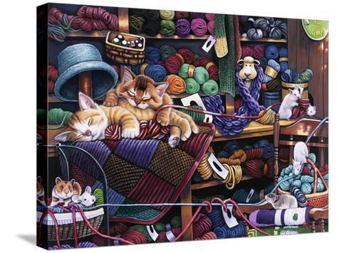While Kittens are Away Mice Will Play-Jenny Newland-Stretched Canvas Print