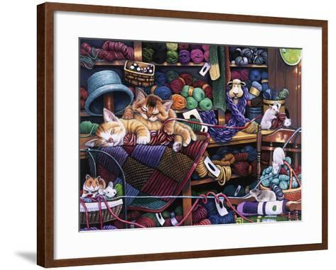While Kittens are Away Mice Will Play-Jenny Newland-Framed Art Print