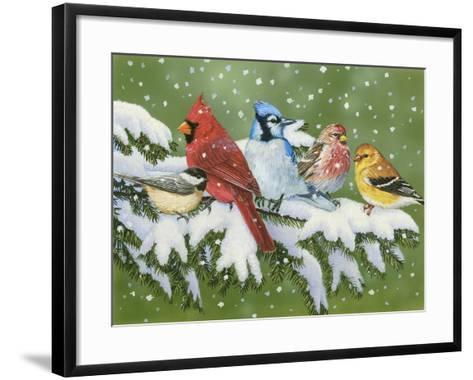 Winter Friends-William Vanderdasson-Framed Art Print