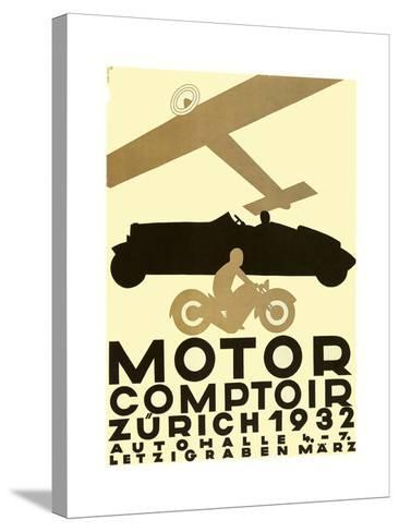 Zurich Cars--Stretched Canvas Print