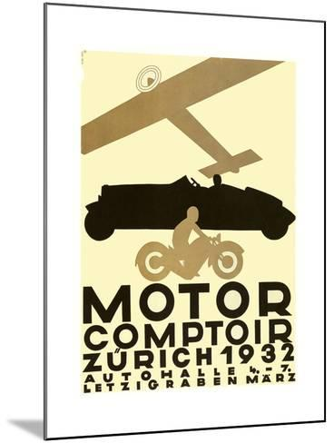 Zurich Cars--Mounted Giclee Print