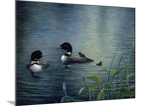 Virginias Loons-Kevin Dodds-Mounted Giclee Print