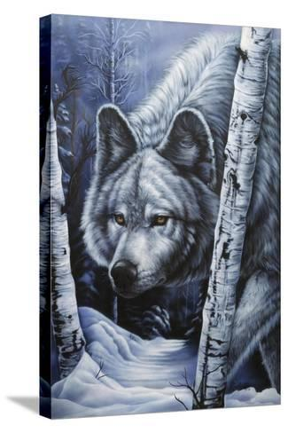 White Wolf-Jenny Newland-Stretched Canvas Print