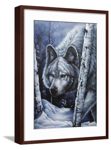 White Wolf-Jenny Newland-Framed Art Print