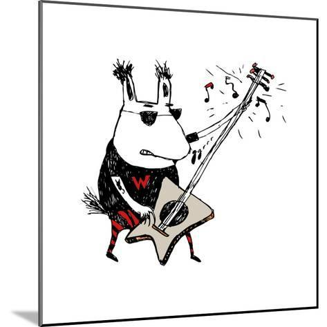 Wild Guitar Wolf-Carla Martell-Mounted Giclee Print