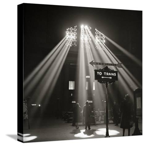 Waiting Room of the Union Station, Chicago--Stretched Canvas Print