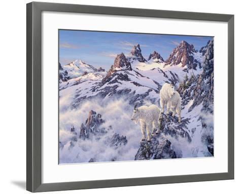 Among the Clouds - Mtn. Goat-Jeff Tift-Framed Art Print
