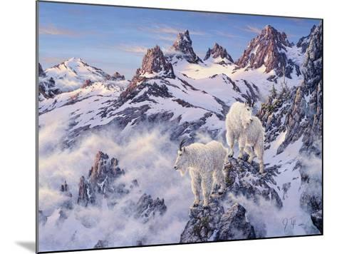 Among the Clouds - Mtn. Goat-Jeff Tift-Mounted Giclee Print