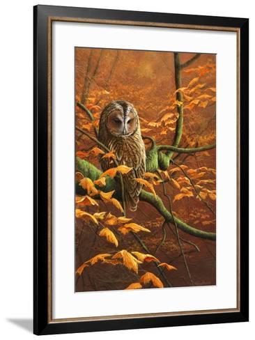 Autumn Tawny Owl-Jeremy Paul-Framed Art Print