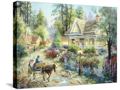 A Country Greeting-Nicky Boehme-Stretched Canvas Print