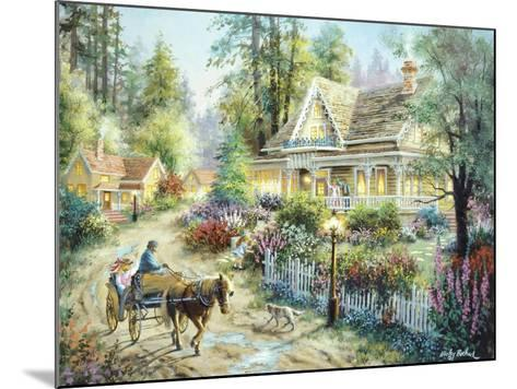 A Country Greeting-Nicky Boehme-Mounted Giclee Print