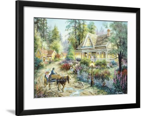 A Country Greeting-Nicky Boehme-Framed Art Print