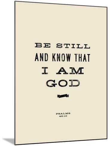 Be Still-Michael Jon Watt-Mounted Giclee Print