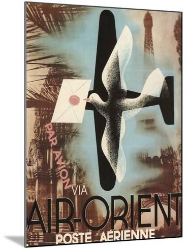 Air Orient Dove--Mounted Giclee Print