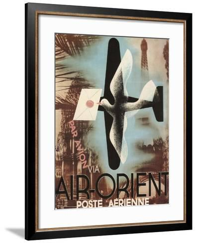 Air Orient Dove--Framed Art Print