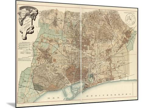 Barcelona--Mounted Giclee Print