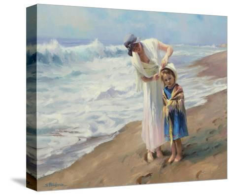 Beach side Diversions-Steve Henderson-Stretched Canvas Print
