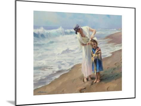 Beach side Diversions-Steve Henderson-Mounted Giclee Print