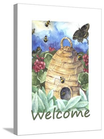 Beehive Welcome-Melinda Hipsher-Stretched Canvas Print