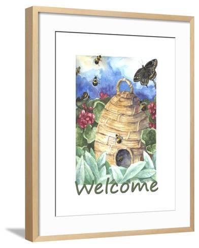 Beehive Welcome-Melinda Hipsher-Framed Art Print