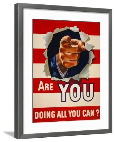 Are You Doing All You Can?--Framed Art Print
