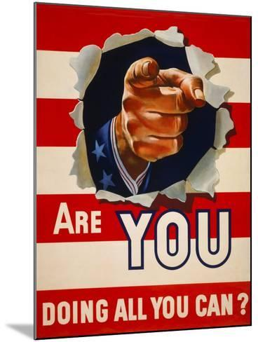 Are You Doing All You Can?--Mounted Giclee Print