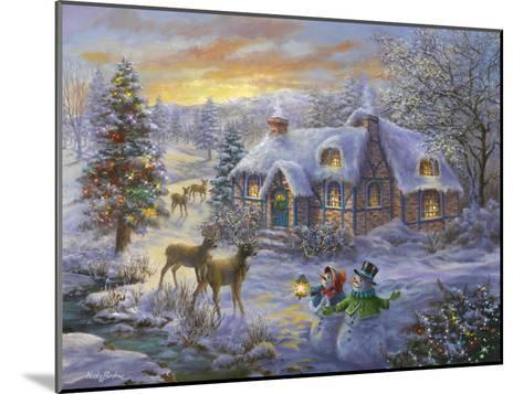 Christmas Cottage-Nicky Boehme-Mounted Giclee Print