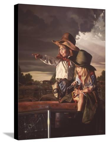 Deputies-Bob Byerley-Stretched Canvas Print