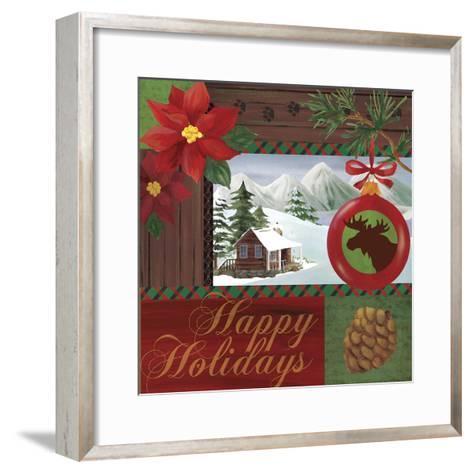 Christmas Lodge I-Fiona Stokes-Gilbert-Framed Art Print