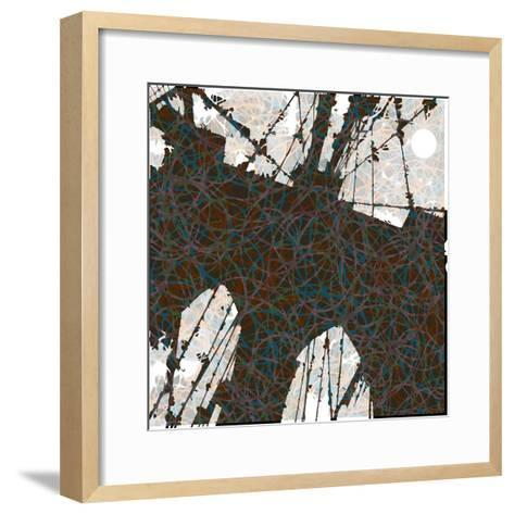Brooklyn Bridge-Teofilo Olivieri-Framed Art Print