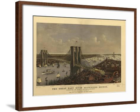 Brooklyn Bridge--Framed Art Print