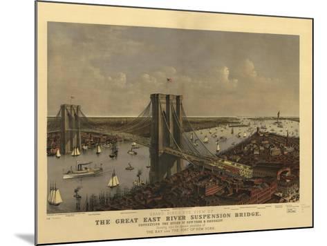 Brooklyn Bridge--Mounted Giclee Print