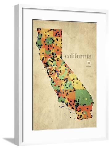 California County Map-David Bowman-Framed Art Print