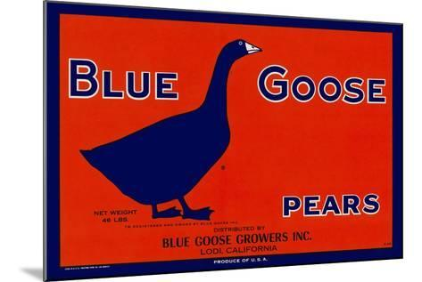 Blue Goose Pears--Mounted Giclee Print