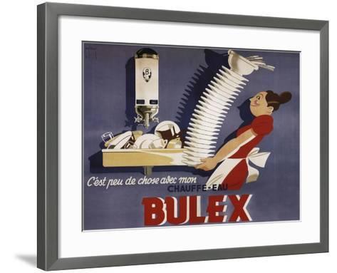 Bulex Water Heater Belgium--Framed Art Print