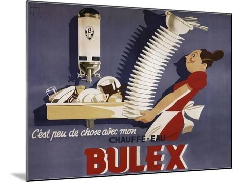 Bulex Water Heater Belgium--Mounted Giclee Print